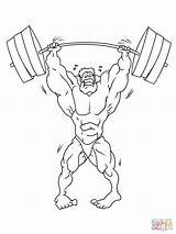Strong Weightlifter Coloring Pages Drawing Weightlifting Gymnasium Lifting Weight Printable Drawings sketch template