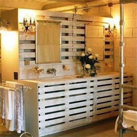 Reclaimed Wood Bathroom Mirror by Pallet Ideas For The Bathroom Pallets Designs Old Pallet
