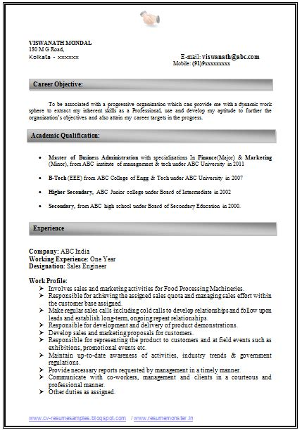 Best Resume For Experienced Format by How To Write An Excellent Resume Sle Template Of An