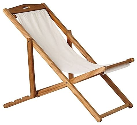 sling chair ivory modern outdoor lounge chairs by