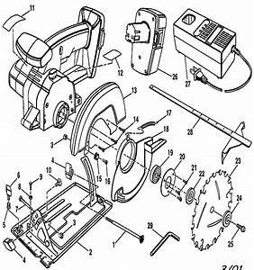 Craftsman 5 1  2 In  Trim Saw Parts