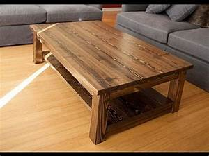 solid wood coffee table youtube With solid cherry wood coffee table