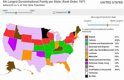 Largest 1971 Families State States United Per