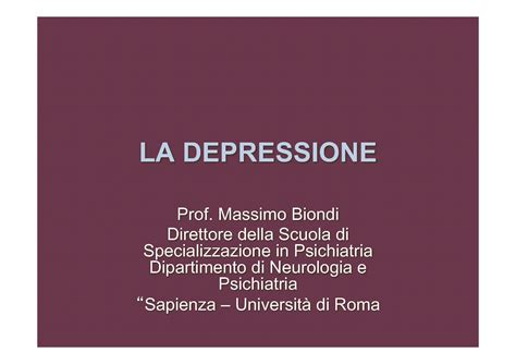 dispense università depressione dispense