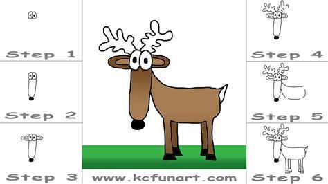 draw  cartoon deer youtube