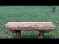 how to build a wood bench How to build a wooden bench for $12.75 - YouTube
