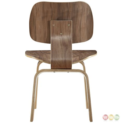 Modern Dining Chairs Set Of 6 by Set Of 6 Fathom Contemporary Wood Panel Dining Chairs Walnut