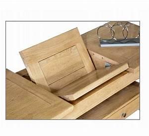 table basse carree chene massif 3822