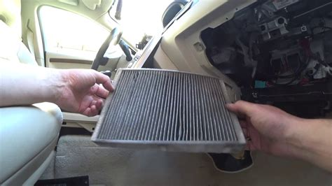 replacing cabin filter  cleaning ac evaporator