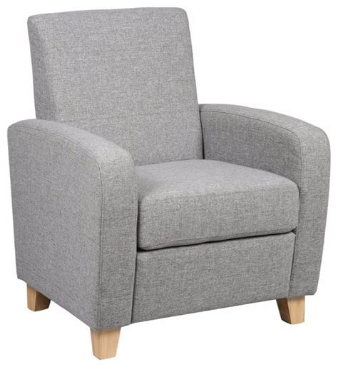 petit fauteuil seated tissu gris contemporain fauteuil