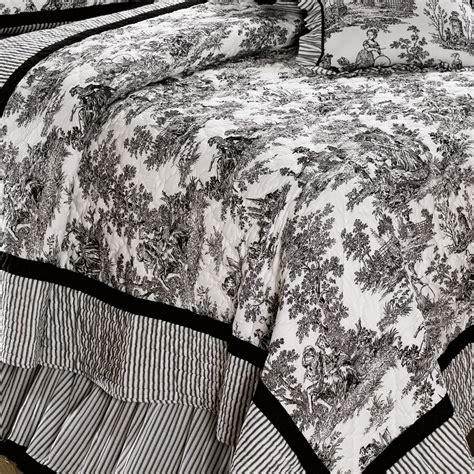 augusta black bird toile duvet toile pillow cover embroidery stitched bird