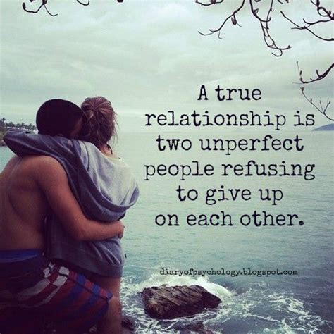 true relationship   unperfect people refusing