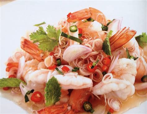 Seafood salad with octopus, shrimp, mussell and calamar. Thai Food Recipes: THAI SHRIMP SPICY SALAD