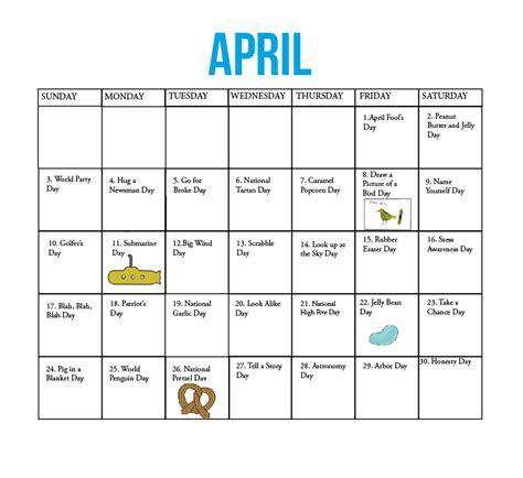 kirkwood call fun national holidays april