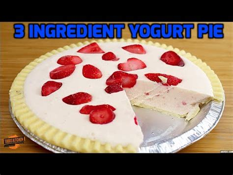 strawberry yogurt pie recipe  ingredients youtube