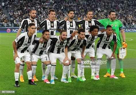 FC Juventus team players pose for a photo during the UEFA ...