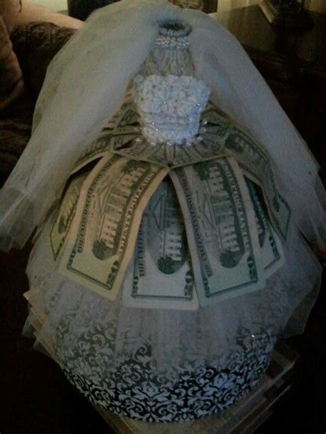 money bridal gown gift weddings showers  big party