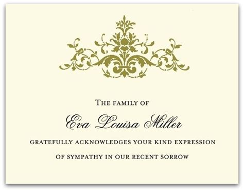 search results funeral acknowledgement wording