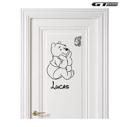 prenom sur porte chambre sticker mural disney winnie l 39 ourson prenom enfant chambre