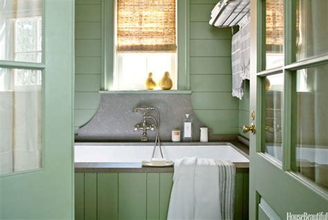 Lake House Bathroom   Green Color Bathroom Decorating Ideas