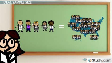 determine sample size video lesson transcript