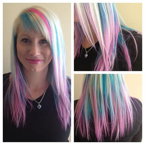 Hair Tagged As Pink Blue Blonde Hair