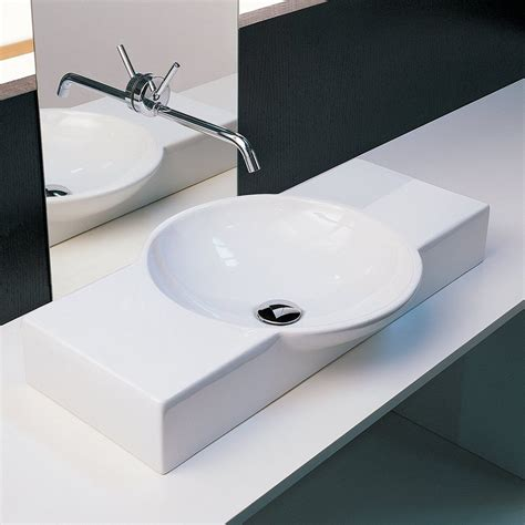 white rectangular vessel sink shop moda collection crescent white rectangular vessel