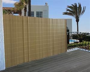 Sichtschutz windschutz verkleidung fur balkon terrasse zaun for Markise balkon mit rasch tapeten en fleurs