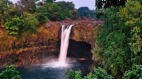 photography rainbow falls hawaii wallpaper