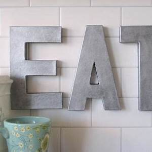 12quoteat faux zinc letters pottery barn recreation eat With pottery barn wall letters
