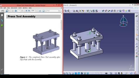 part assembly design  press tool youtube
