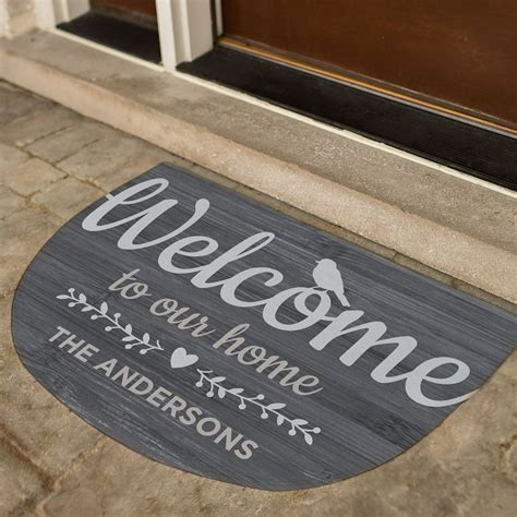 Welcome To Our Home Doormat by Welcome To Our Home Personalized Doormat Giftsforyounow