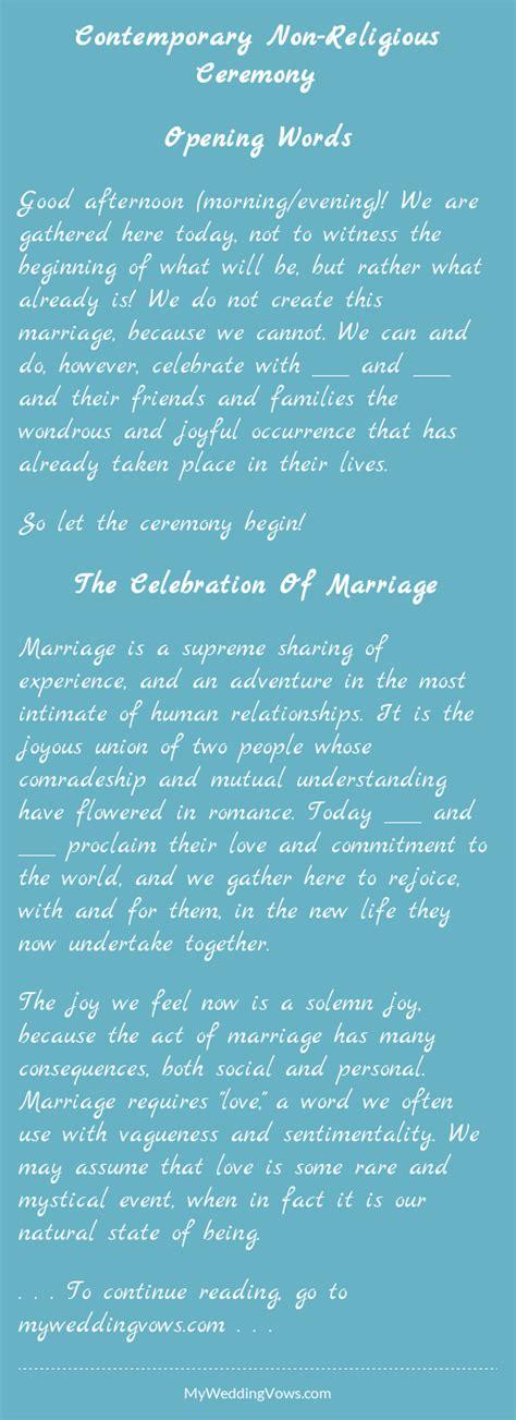contemporary non religious ceremony wedding weddings