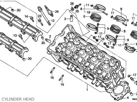 honda cbr900rr fireblade 1993 p netherlands parts lists and schematics