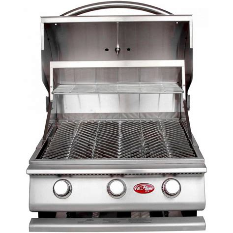 built in countertop grill cal gourmet series 3 burner built in stainless steel
