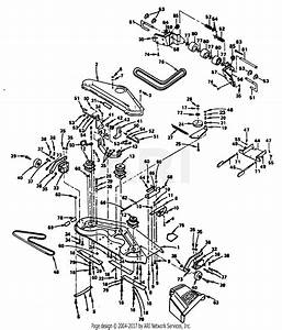 Poulan Xeg1182har Tractor Parts Diagram For Mower Deck