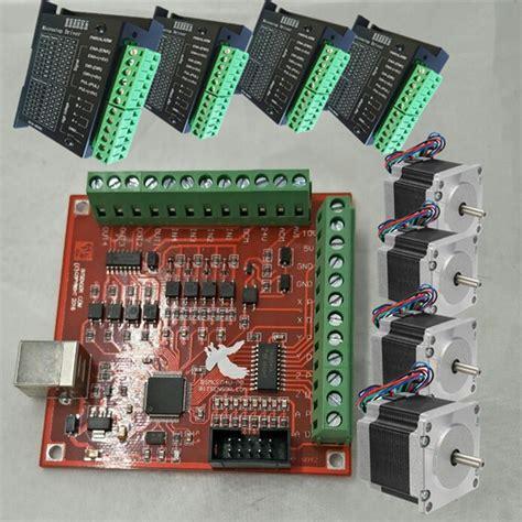 cnc mach3 usb 4 axis 100khz usbcnc smooth stepper motion controller card breakout board nema 23