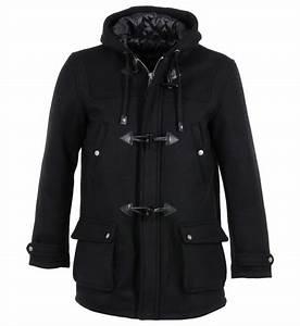 Manteau Homme Galerie Lafayette : duffle coat warren schott noir homme galeries lafayette ~ Melissatoandfro.com Idées de Décoration