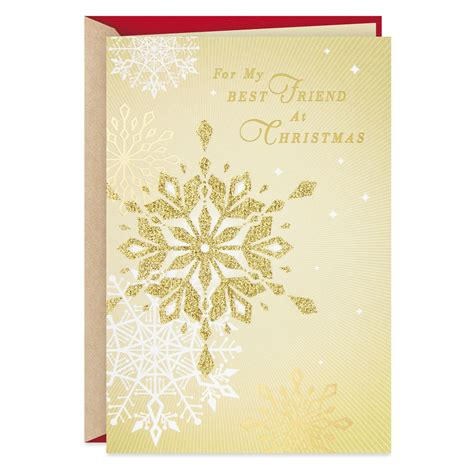 These cute christmas card ideas you showcase your friendship to the whole world. You're a True Gift Christmas Card for Best Friend - Greeting Cards - Hallmark