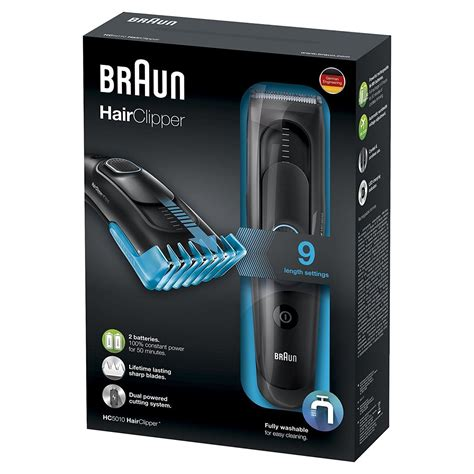 braun hc mens hair clipper cordless rechargeable electric trimmer