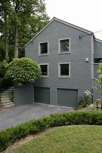 briques peintes grises maison exterieur pinterest gris With maison peinte en gris