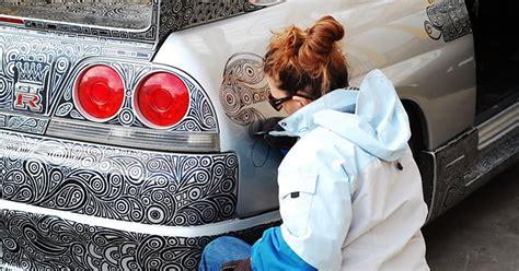 guy leaves  nissan skyline gtr   artist wife
