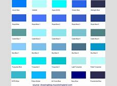 Different Shades of Blue A List With Color Names and