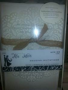 hobby lobby wedding invitations with burlap bow wedding With hobbylobby com wedding templates