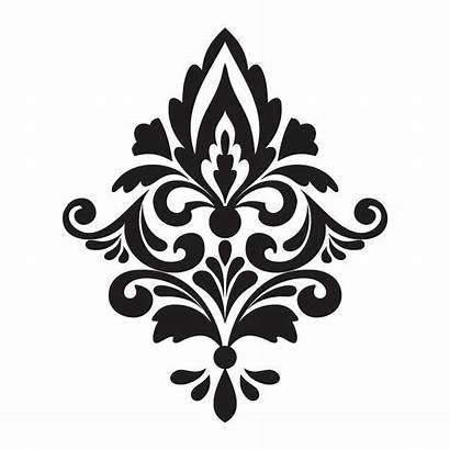 Damask Clip Cliparts Wall Stickers Stencil Printable