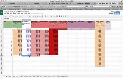 hvac life cycle cost analysis spreadsheet