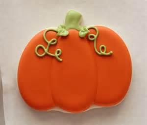Decorated Pumpkin Cookies