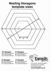 Hexagon templates nesting hexagons grandmother39s garden for Hexagon templates for quilting free