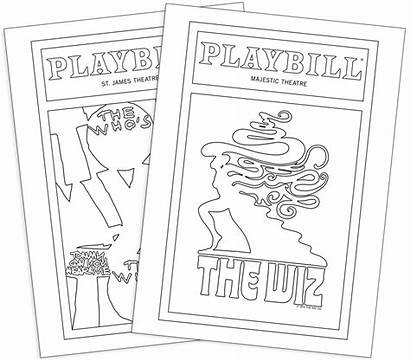 Broadway Playbill Coloring Playbillstore Souvenirs