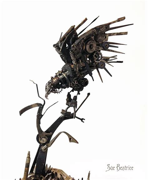 parts recycled  steampunk sculptures
